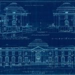 Image of a Trinkle Hall blueprint.